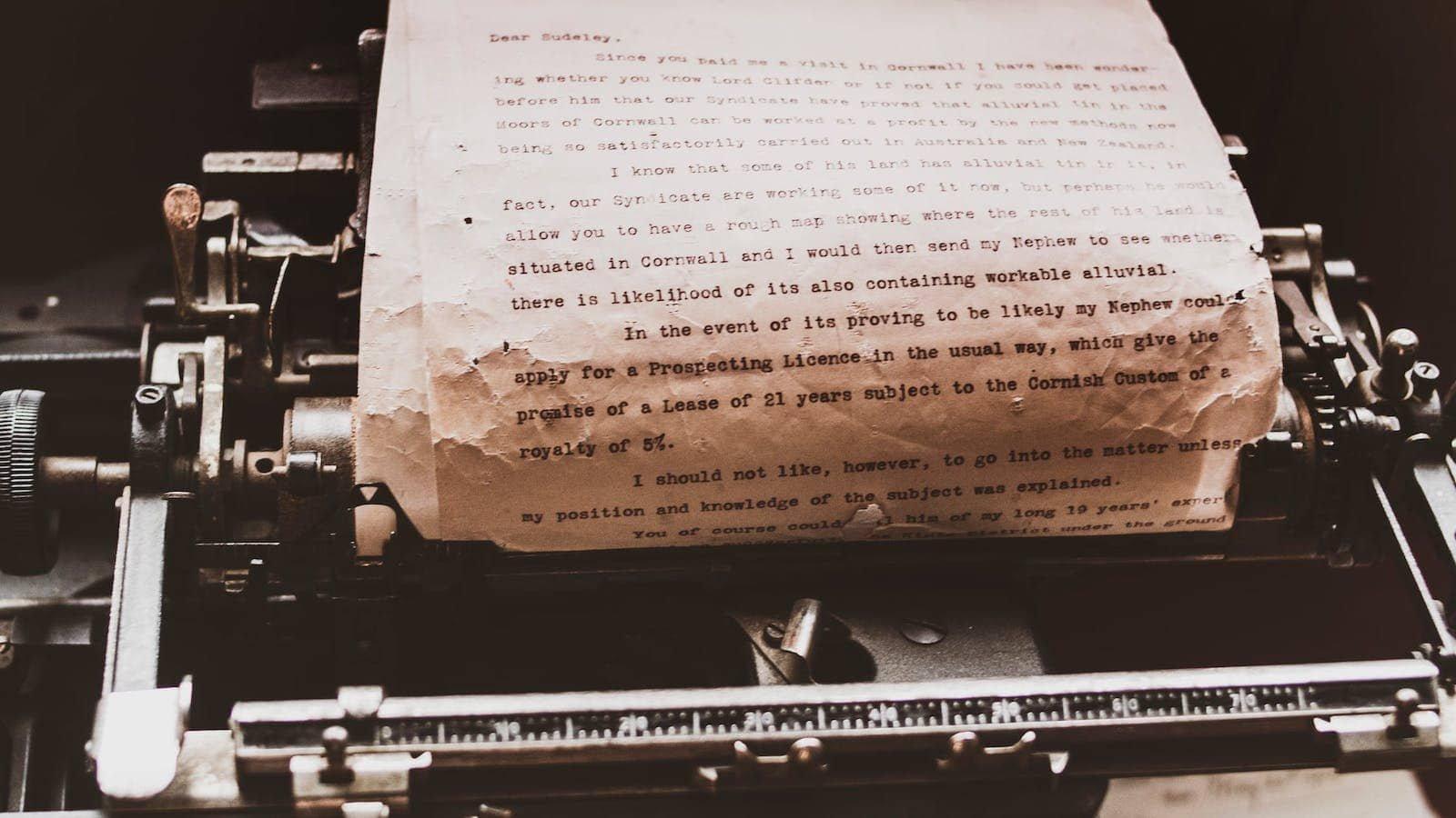 Schreibmaschinentext schreiben